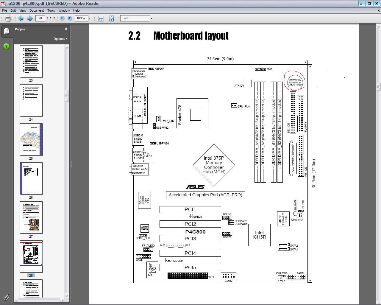 asus p4p800 se motherboard manual