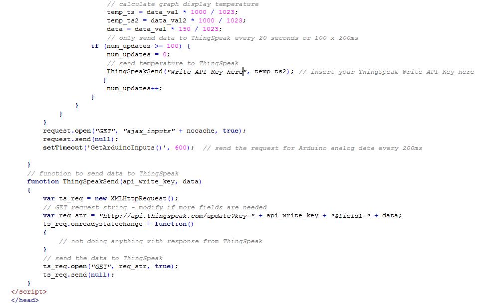 Thingspeak multiple field updates from html | Arduino